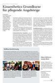 Kinaesthetics Grundkurse für pflegende Angehörige