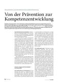 Von der Prävention zur Kompetenzentwicklung