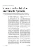 Kinaesthetics ist eine universelle Sprache