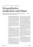 Kinaesthetics entdecken und leben