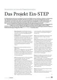 Das Projekt Ein-STEP