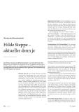 Hilde Steppe - aktueller den je