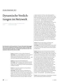 Dynamische Verdichtungen im Netzwerk