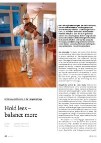 Hold less - balance more