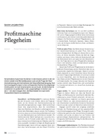 Profitmaschine Pflegeheim