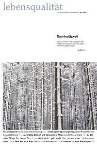 Zeitschrift Lebensqualität 2014 Nummer 1 Titelseite