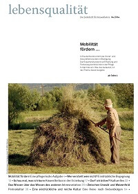 Zeitschrift Lebensqualität 2014 Nummer 4 Titelseite